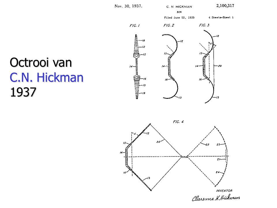Octrooi van C.N. Hickman 1937