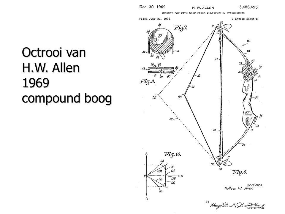 Octrooi van H.W. Allen 1969 compound boog