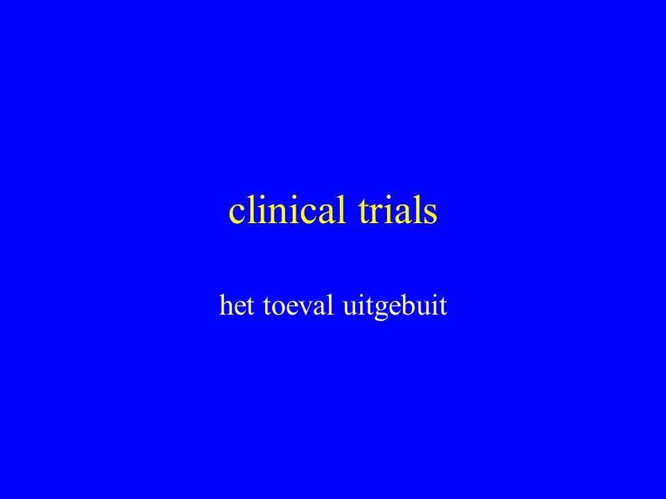 clinical trials het toeval uitgebuit