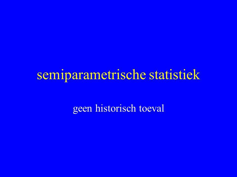 semiparametrische statistiek geen historisch toeval