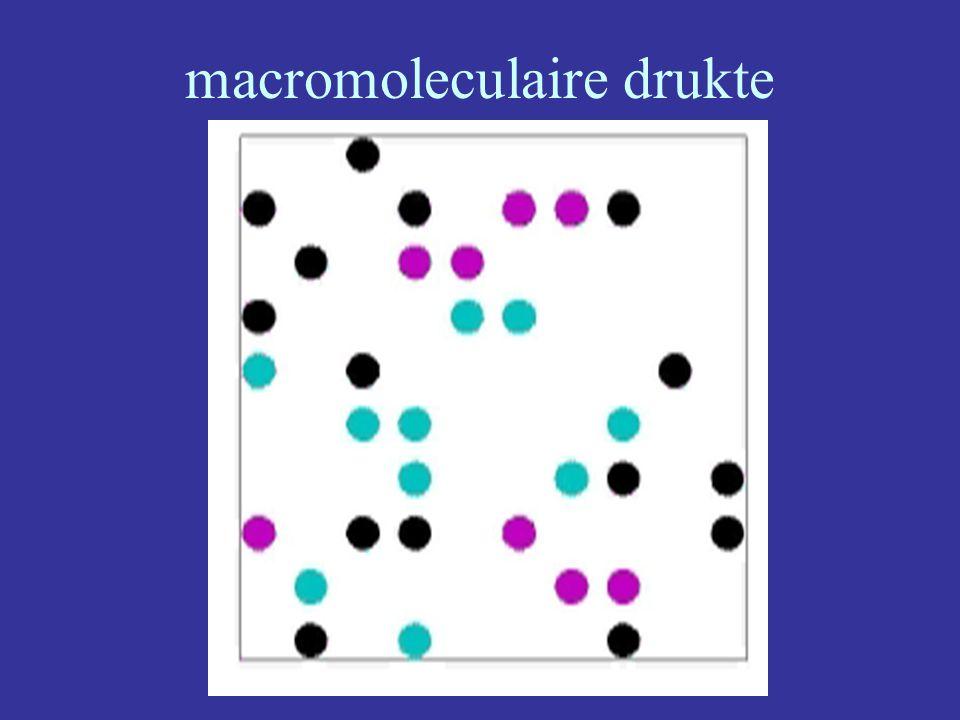 macromoleculaire drukte