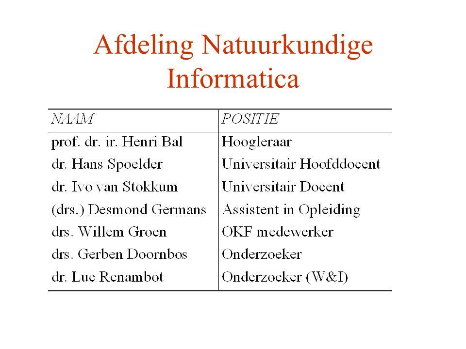 Afdeling Natuurkundige Informatica