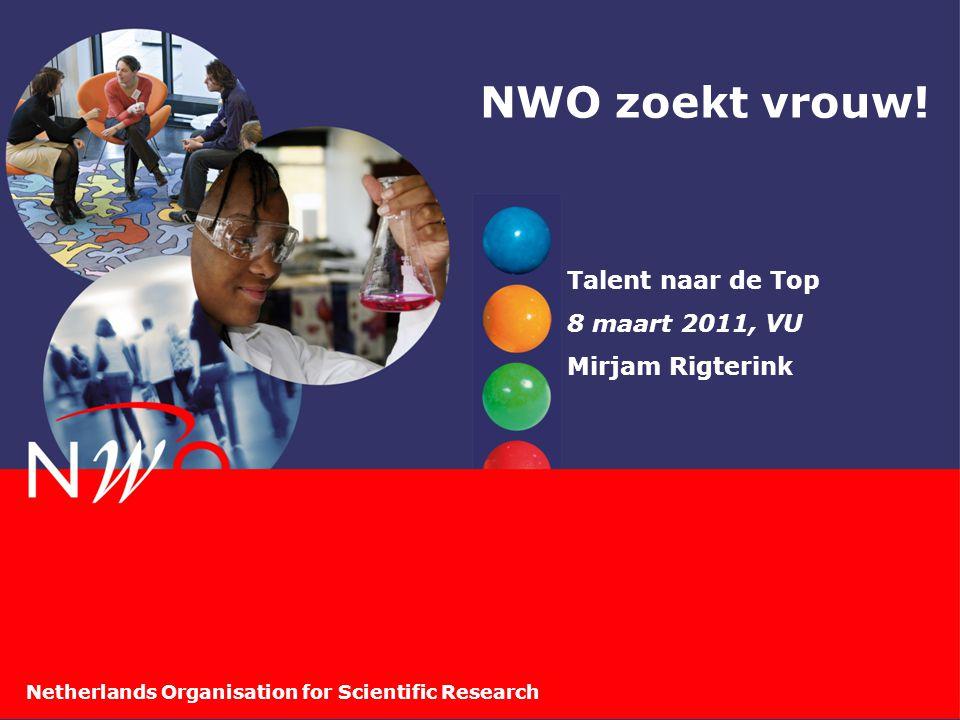 Netherlands Organisation for Scientific Research NWO zoekt vrouw! Talent naar de Top 8 maart 2011, VU Mirjam Rigterink