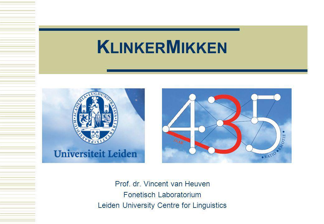 K LINKER M IKKEN Prof.dr.