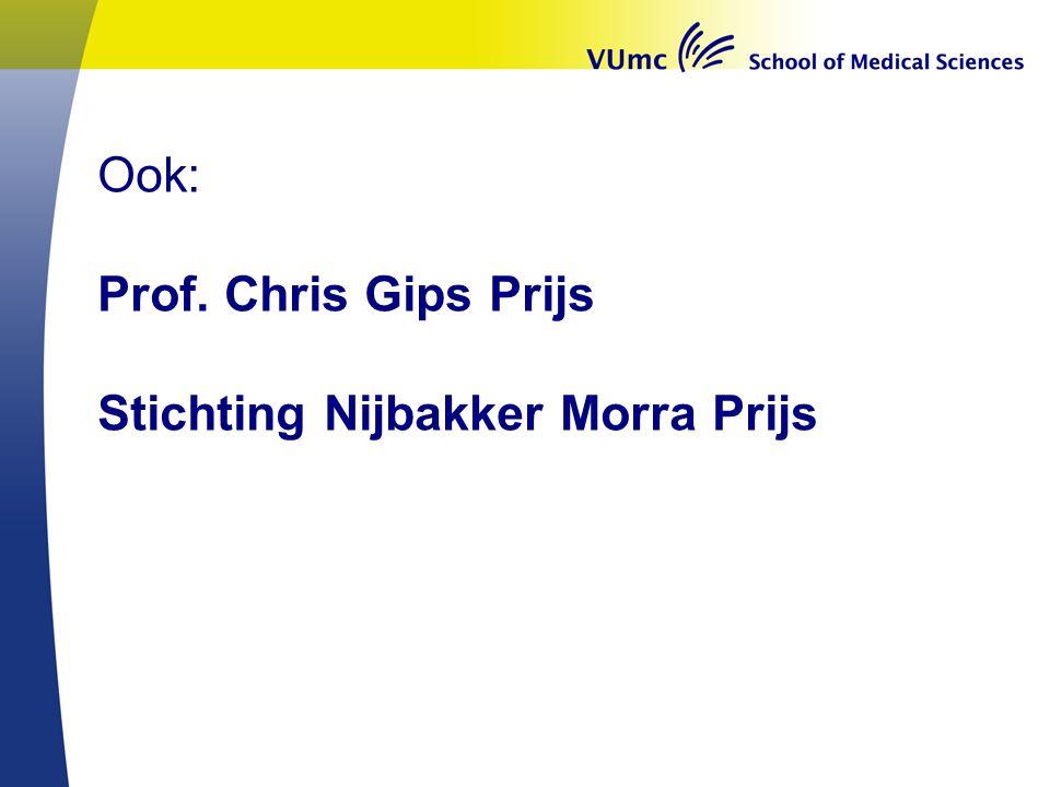 Ook: Prof. Chris Gips Prijs Stichting Nijbakker Morra Prijs