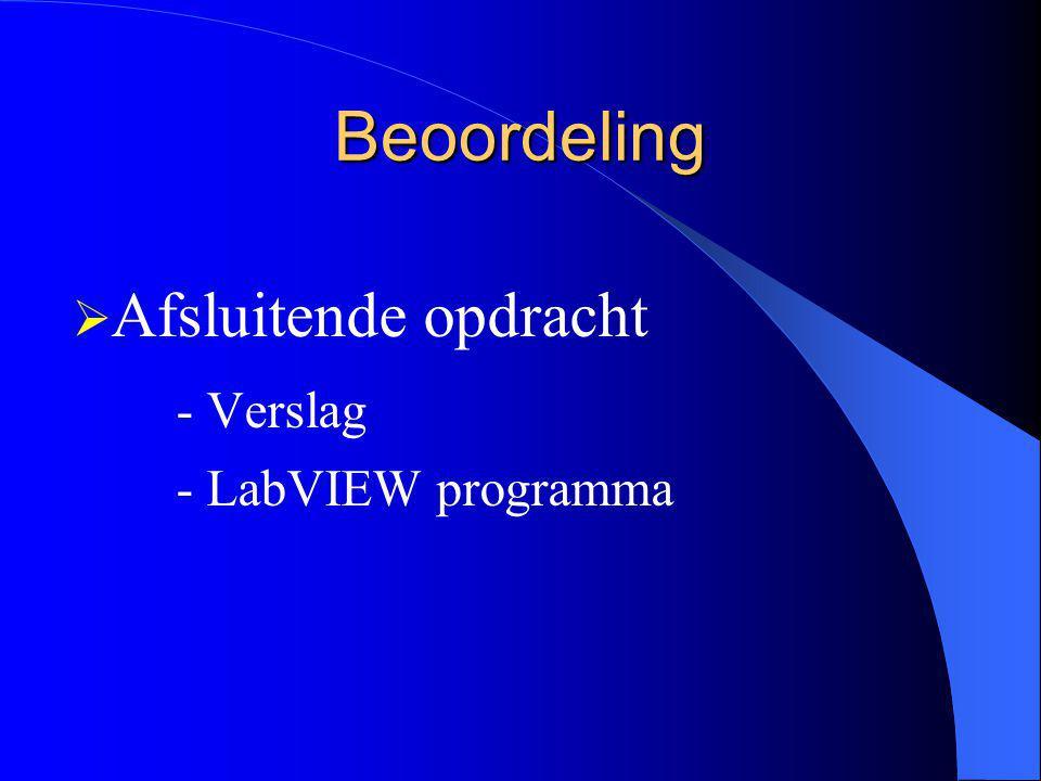 Beoordeling - Verslag - LabVIEW programma