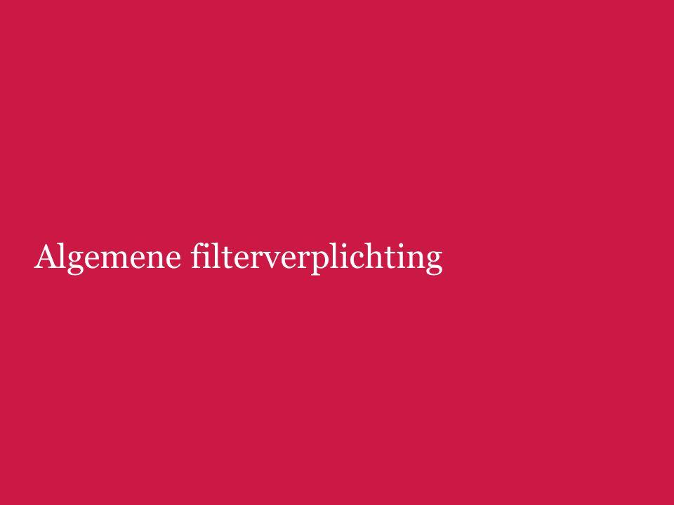 Algemene filterverplichting