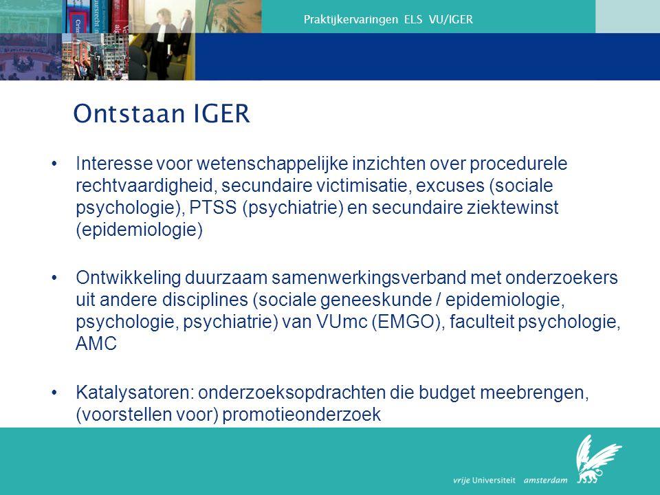 Praktijkervaringen ELS VU/IGER Model of Legal Education and Research – Where to break in.