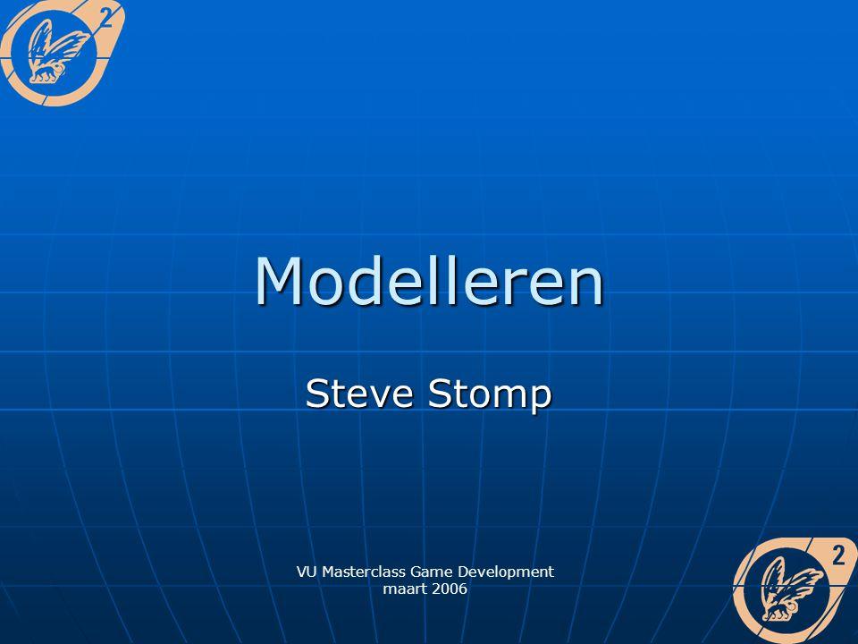 Modelleren Steve Stomp VU Masterclass Game Development maart 2006