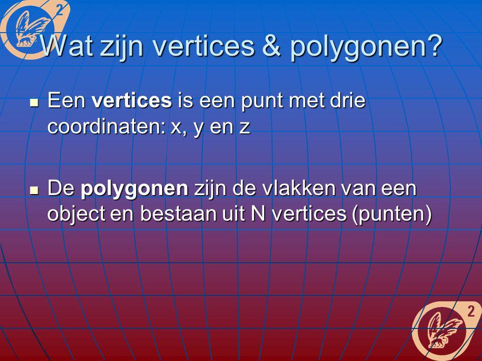 Wat zijn vertices & polygonen.