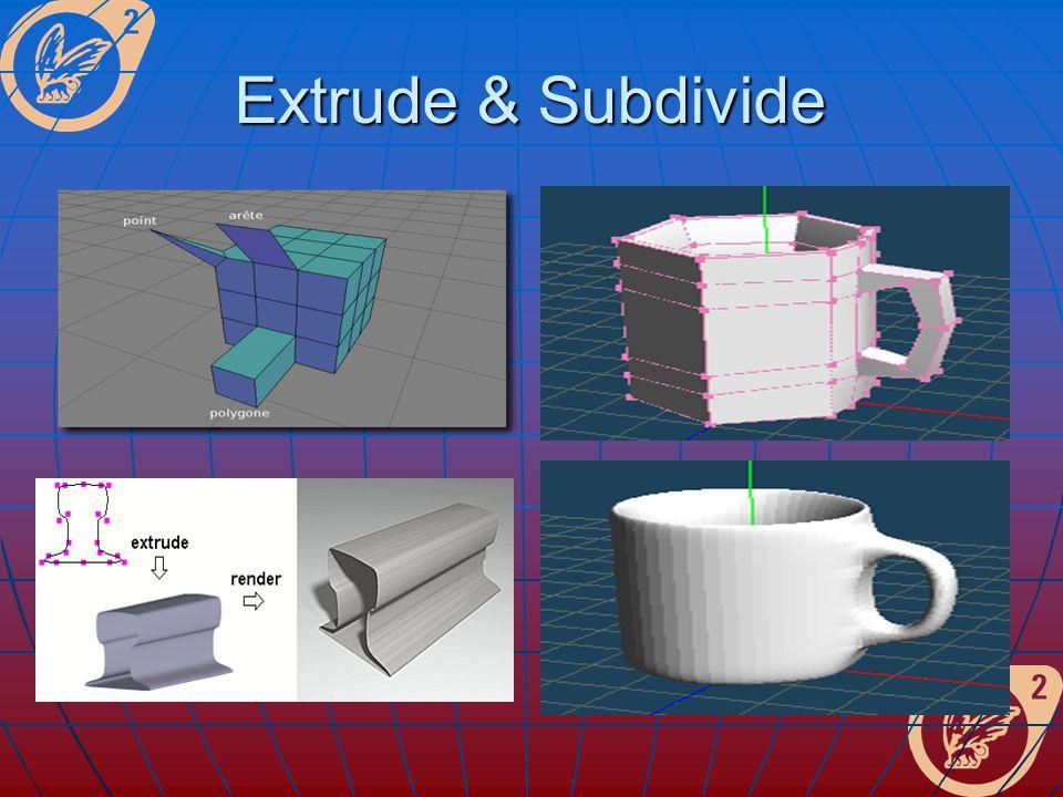Extrude & Subdivide