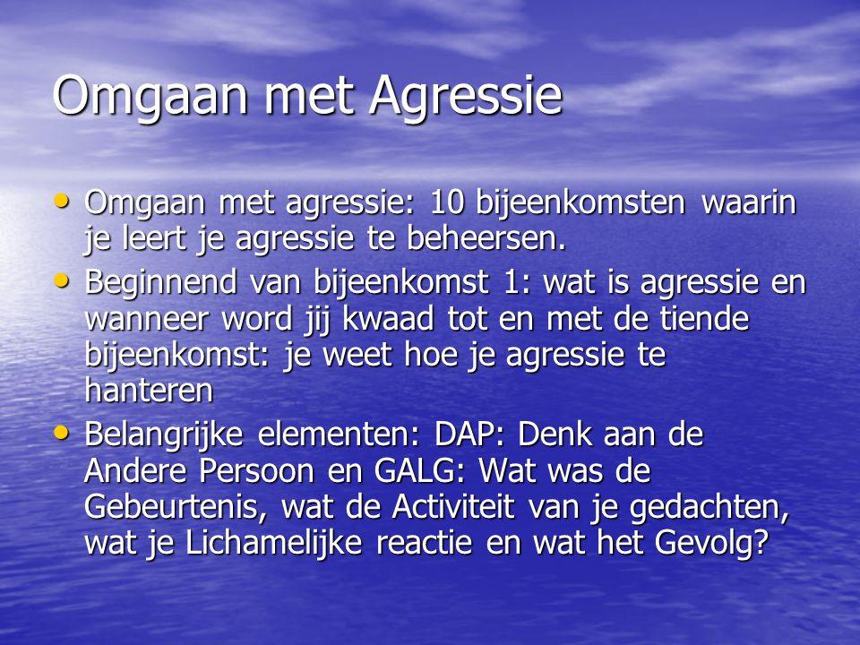 Omgaan met Agressie Omgaan met agressie: 10 bijeenkomsten waarin je leert je agressie te beheersen. Omgaan met agressie: 10 bijeenkomsten waarin je le