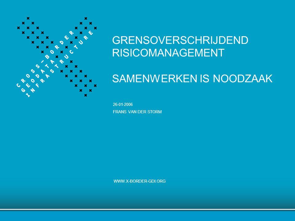 WWW.X-BORDER-GDI.ORGSLIDE 1 GRENSOVERSCHRIJDEND RISICOMANAGEMENT SAMENWERKEN IS NOODZAAK WWW.X-BORDER-GDI.ORG 26-01-2006 FRANS VAN DER STORM