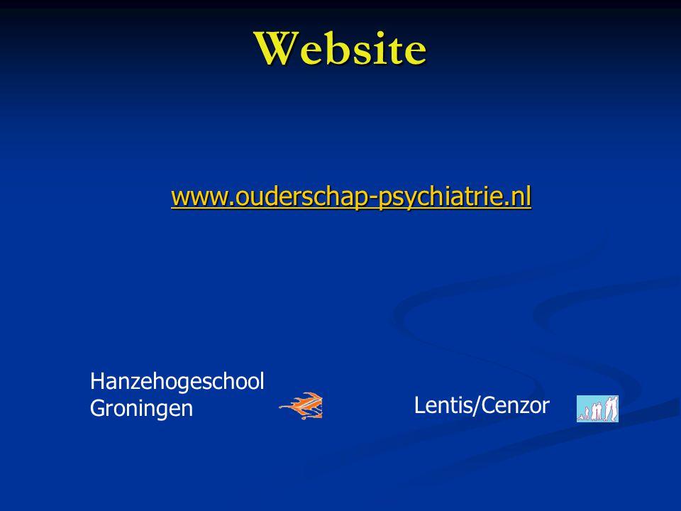 Ouderschap en psychiatrie Groningen Balans Eigen leven Ouderschap + verhoogde kwetsbaarheid kwetsbaarheid
