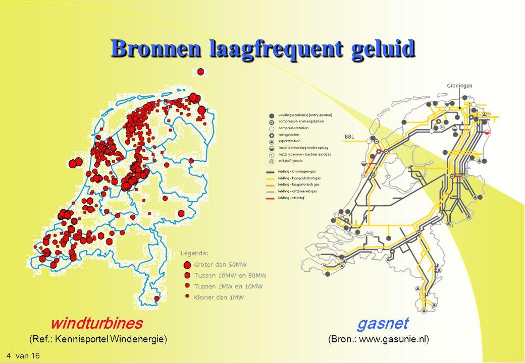 Bronnen laagfrequent geluid windturbinesgasnet (Ref.: Kennisportel Windenergie)(Bron.: www.gasunie.nl) 4 van 16