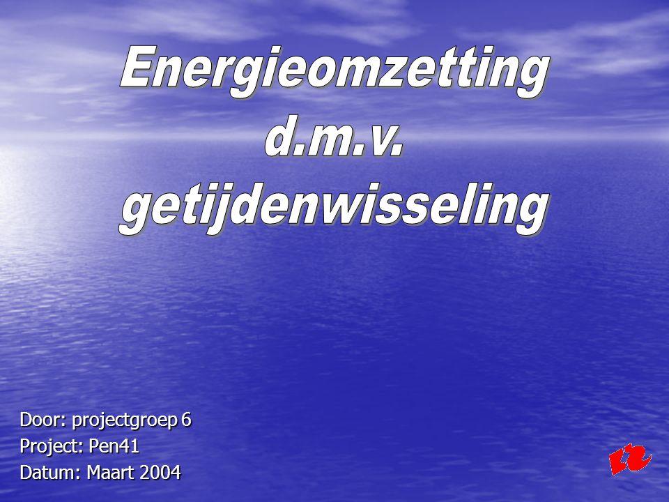 Energieomzetting d.m.v. getijdenwisseling Berekening