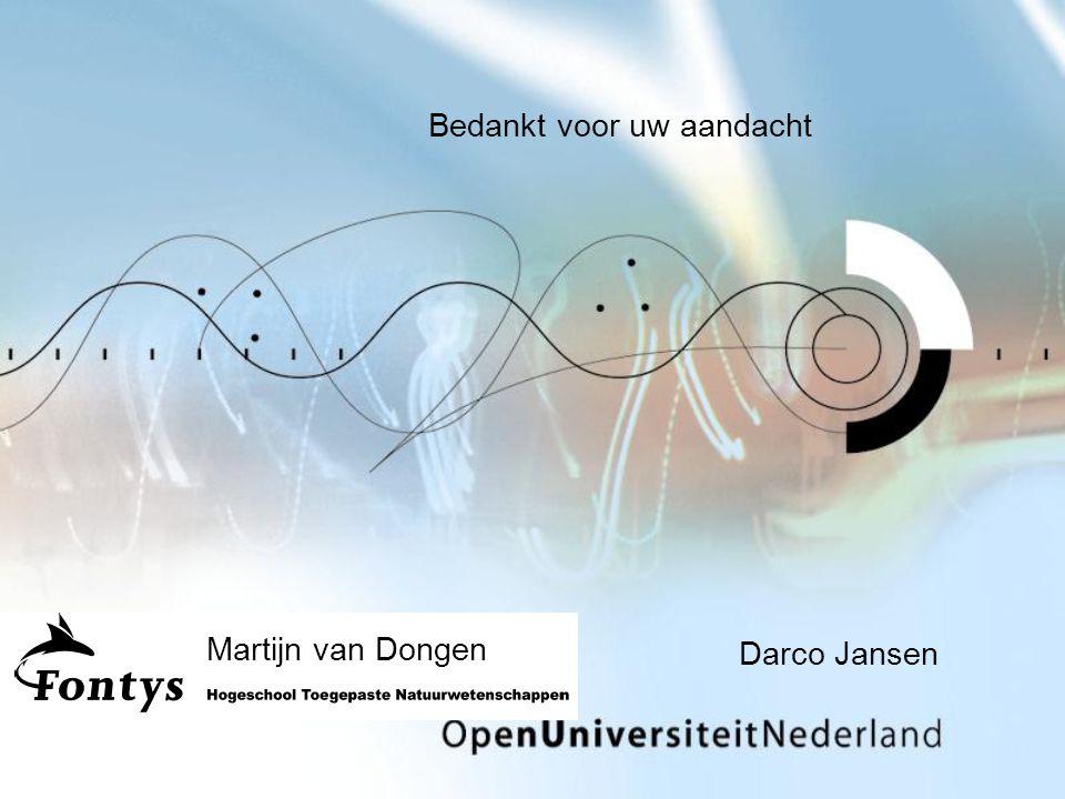 Darco Jansen Bedankt voor uw aandacht Martijn van Dongen