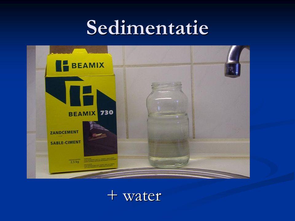 Sedimentatie + water