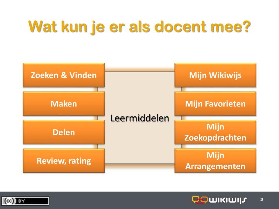 29-7-20148 88 LeermiddelenLeermiddelen Wat kun je er als docent mee.