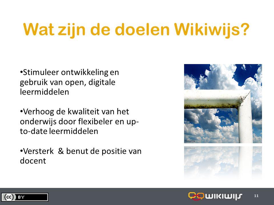 29-7-201411 Wat zijn de doelen Wikiwijs.