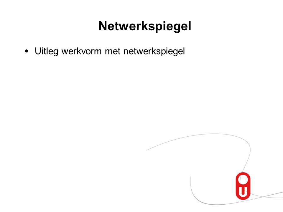 Netwerkspiegel Uitleg werkvorm met netwerkspiegel