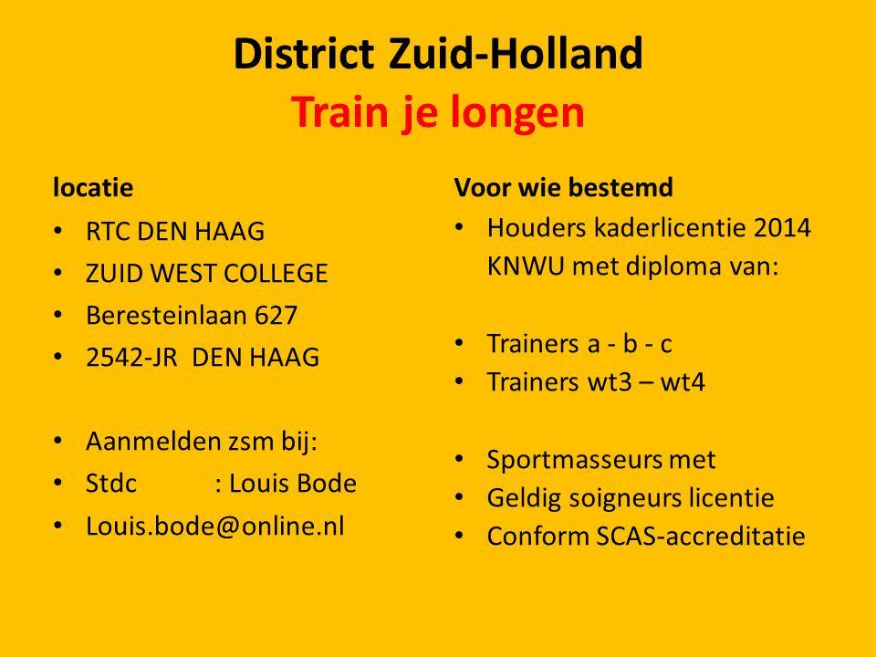 District Zuid-Holland DOELSTELLING 2014 PROMOTIE VAN DE WIELERSPORT DOOR SAMENWERKING TUSSEN ALLE VERENIGINGEN EN ORGANISATOREN ALSMEDE ONZE JURY en ONDERLING RESPECT IN ALLE DISCIPLINE'S