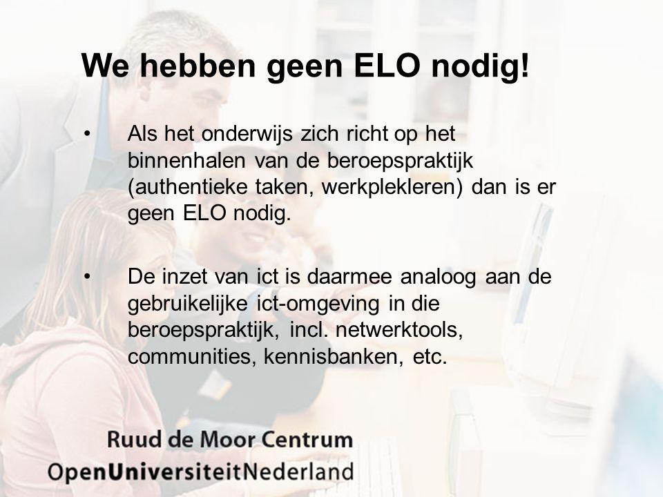 We hebben geen ELO nodig.