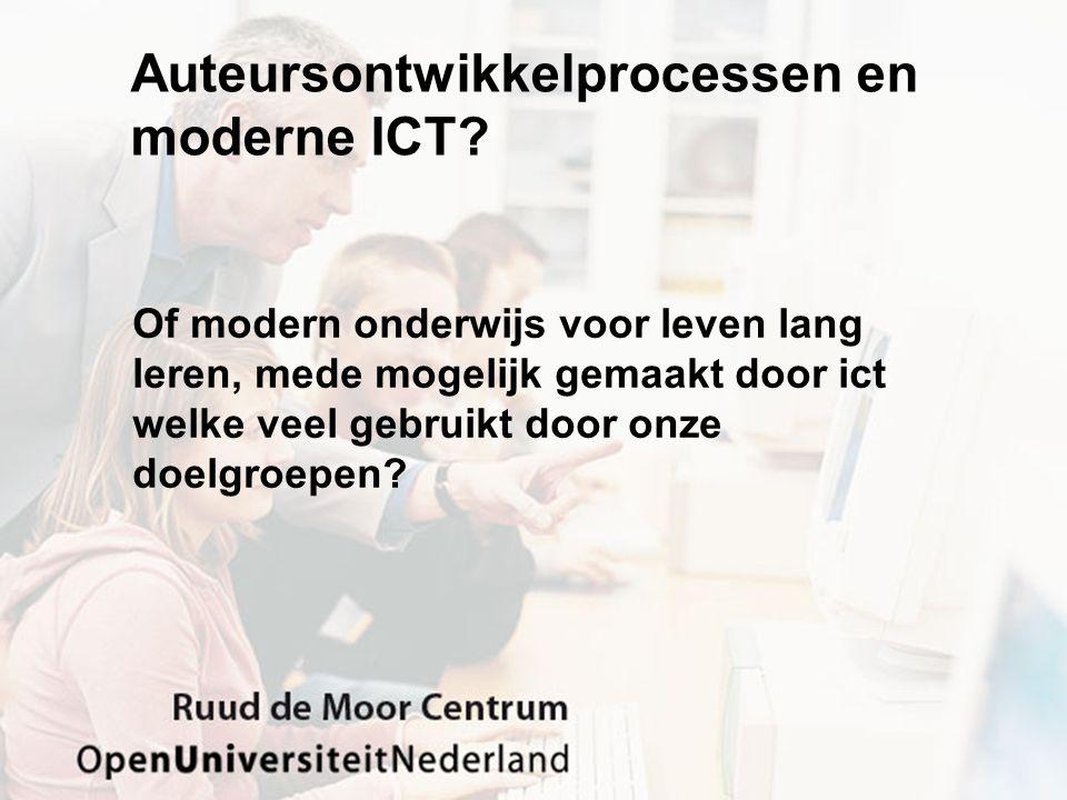 Auteursontwikkelprocessen en moderne ICT.