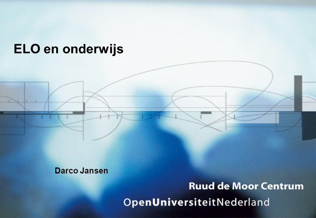 Darco Jansen ELO en onderwijs
