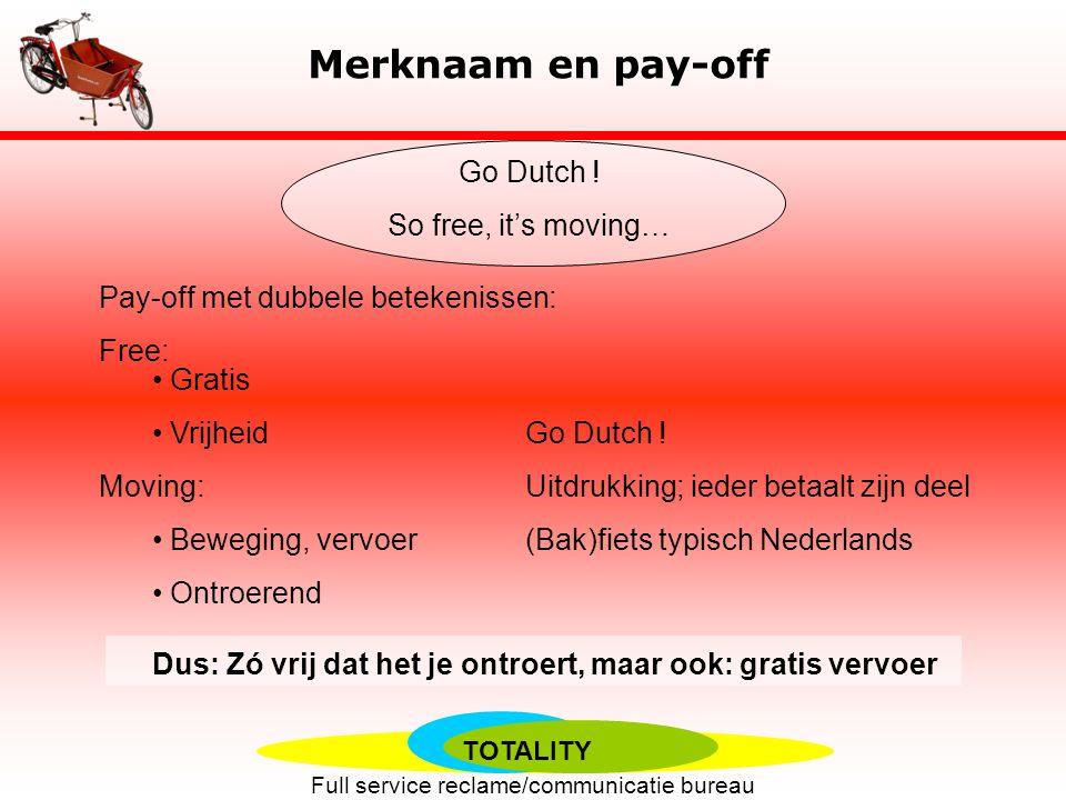 TOTALITY Full service reclame/communicatie bureau Merknaam en pay-off Cargobike.com Go Dutch .