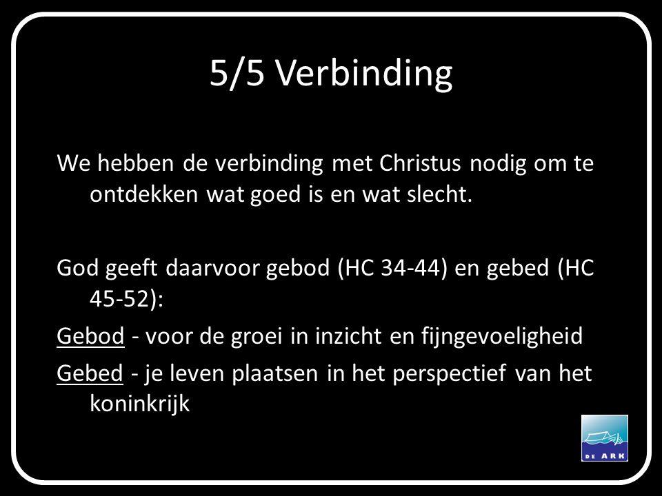 5/5 Verbinding We hebben de verbinding met Christus nodig om te ontdekken wat goed is en wat slecht.