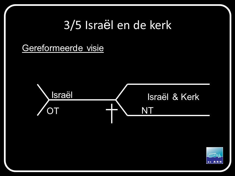 3/5 Isra ë l en de kerk OT NT Israël Israël & Kerk Gereformeerde visie
