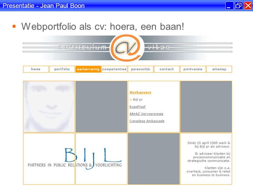 Presentatie - Jean Paul Boon  Hoe het allemaal begon