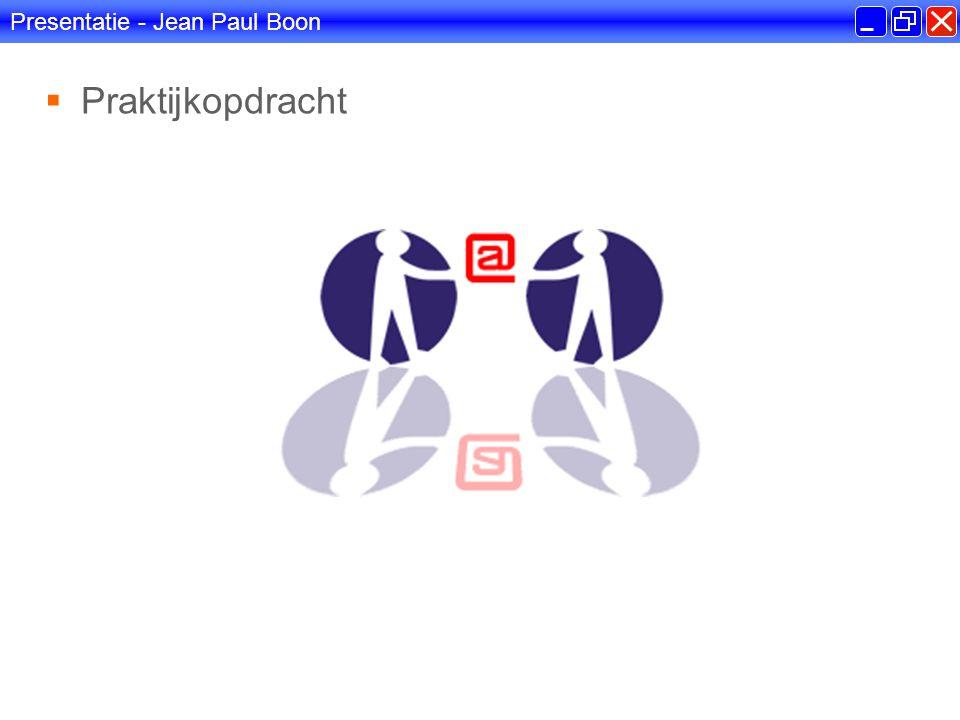Presentatie - Jean Paul Boon  Scriptieonderwerp