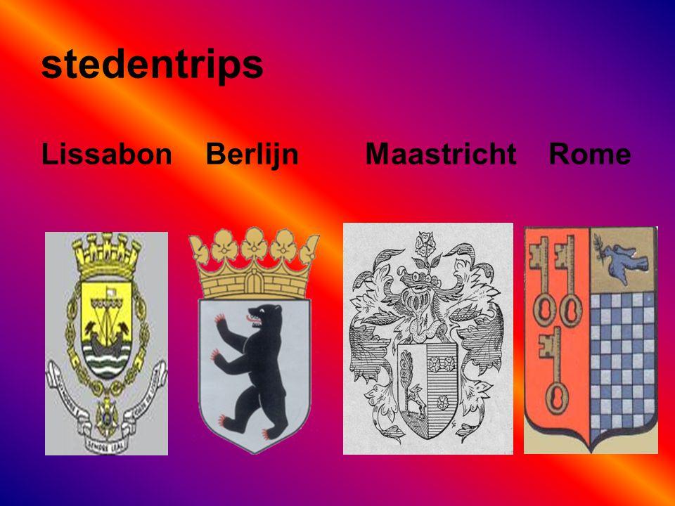 stedentrips Lissabon Berlijn Maastricht Rome