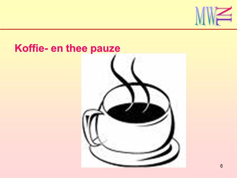 6 Koffie- en thee pauze