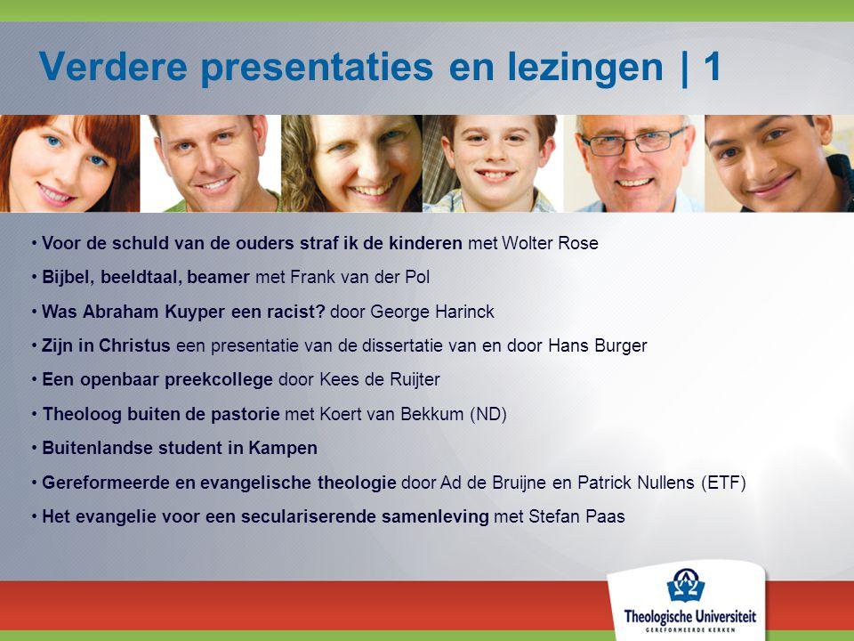 Verdere presentaties en lezingen | 1 Voor de schuld van de ouders straf ik de kinderen met Wolter Rose Bijbel, beeldtaal, beamer met Frank van der Pol Was Abraham Kuyper een racist.