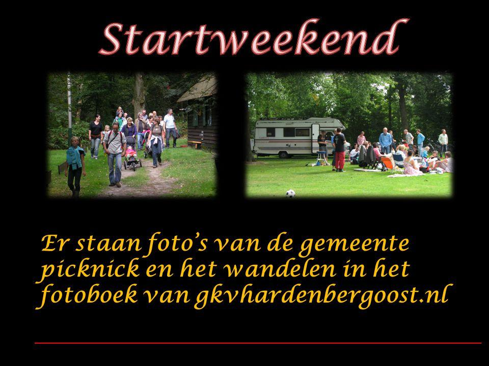 Er staan foto's van de gemeente picknick en het wandelen in het fotoboek van gkvhardenbergoost.nl