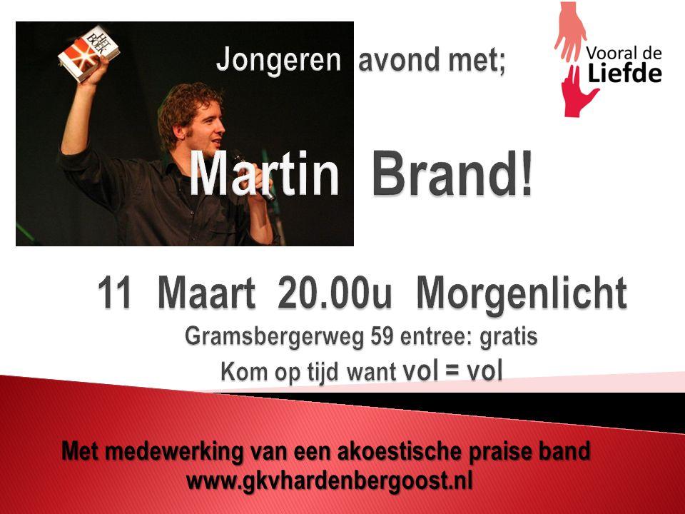 Met medewerking van een akoestische praise band www.gkvhardenbergoost.nl