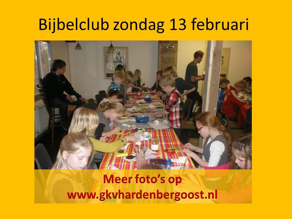 Bijbelclub zondag 13 februari