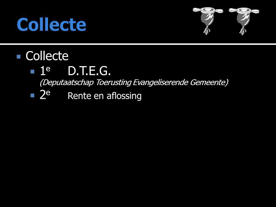  Collecte  1 e D.T.E.G.