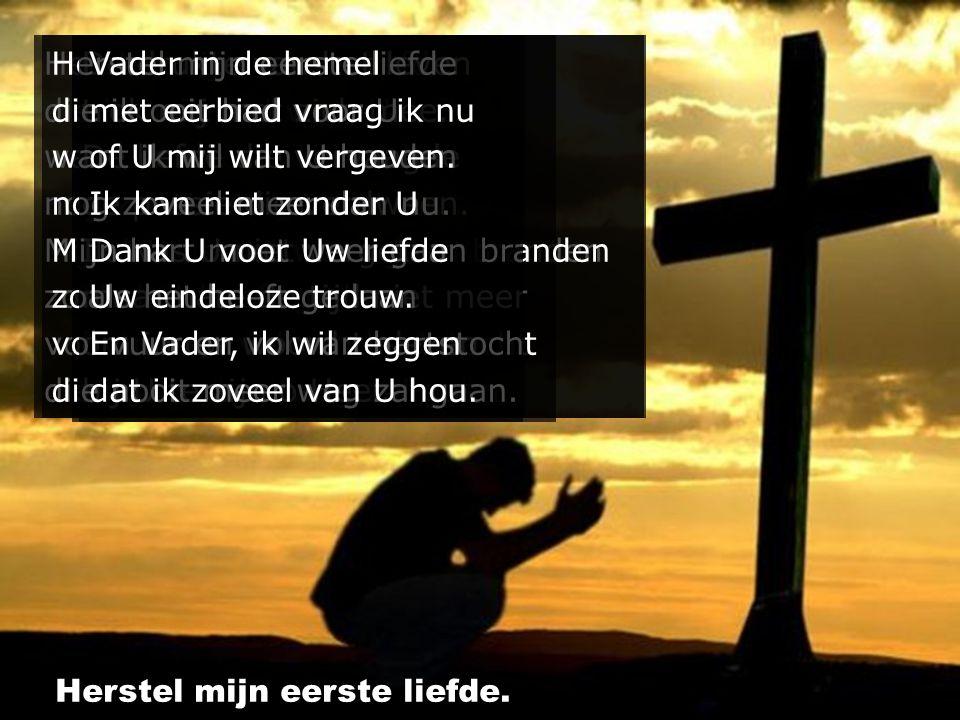 Vader in de hemel die zoveel om mij geeft dat U in Uw genade Uw Zoon gegeven heeft Dank U voor Uw liefde Uw eindeloze trouw dat ondanks al mijn falen