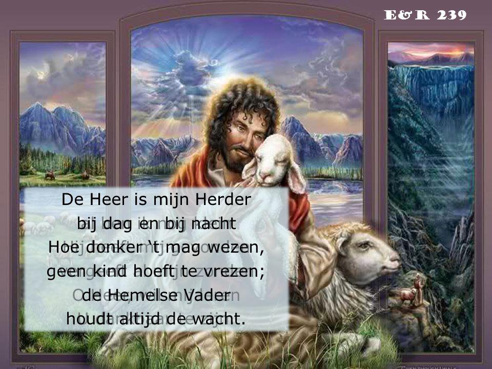 De Heer is mijn Herder al ben ik nog klein Hij heeft mij gevonden vergeeft al mijn zonden O Heer, wil mij leren U dankbaar te zijn. E&r 239 De Heer is