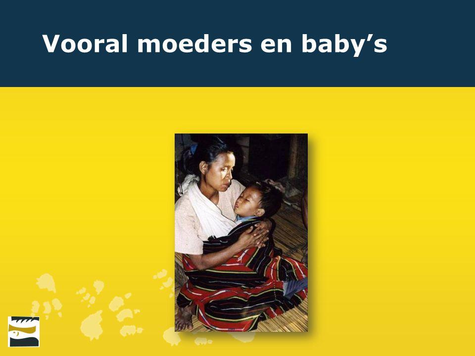 Vooral moeders en baby's
