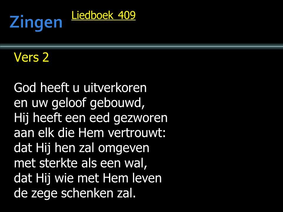 Liedboek 409 Vers 3 Zou ooit een vrouw vergeten t kind dat zij in zich droeg, er niet van willen weten, wanneer het naar haar vroeg.