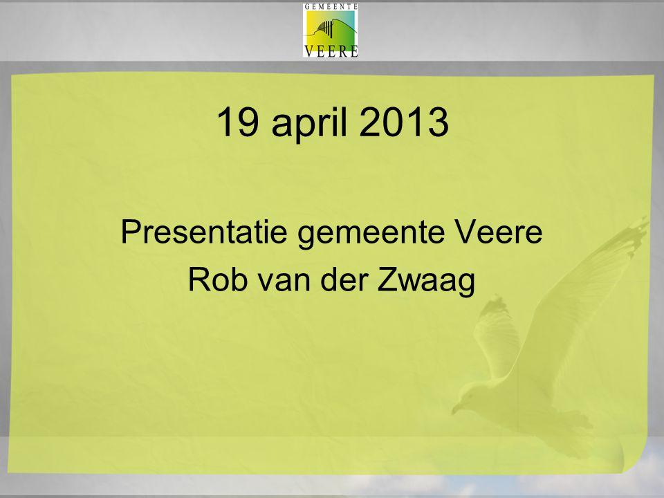 19 april 2013 Presentatie gemeente Veere Rob van der Zwaag