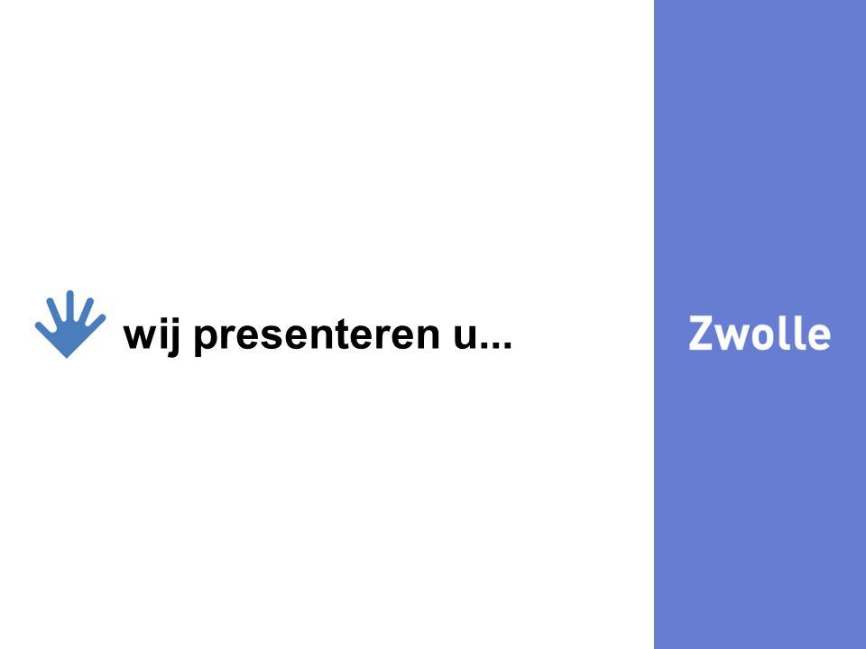 29-7-20142 wij presenteren u... Mediation en de gemeente Zwolle Wat doet Zwolle?