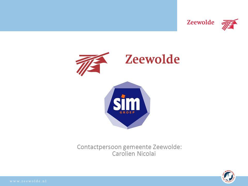 Contactpersoon gemeente Zeewolde: Carolien Nicolai
