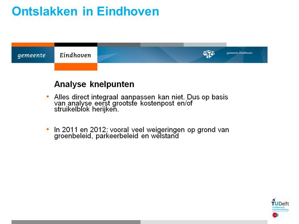 Ontslakken in Eindhoven Praktijkleerstoel gebiedsontwikkeling