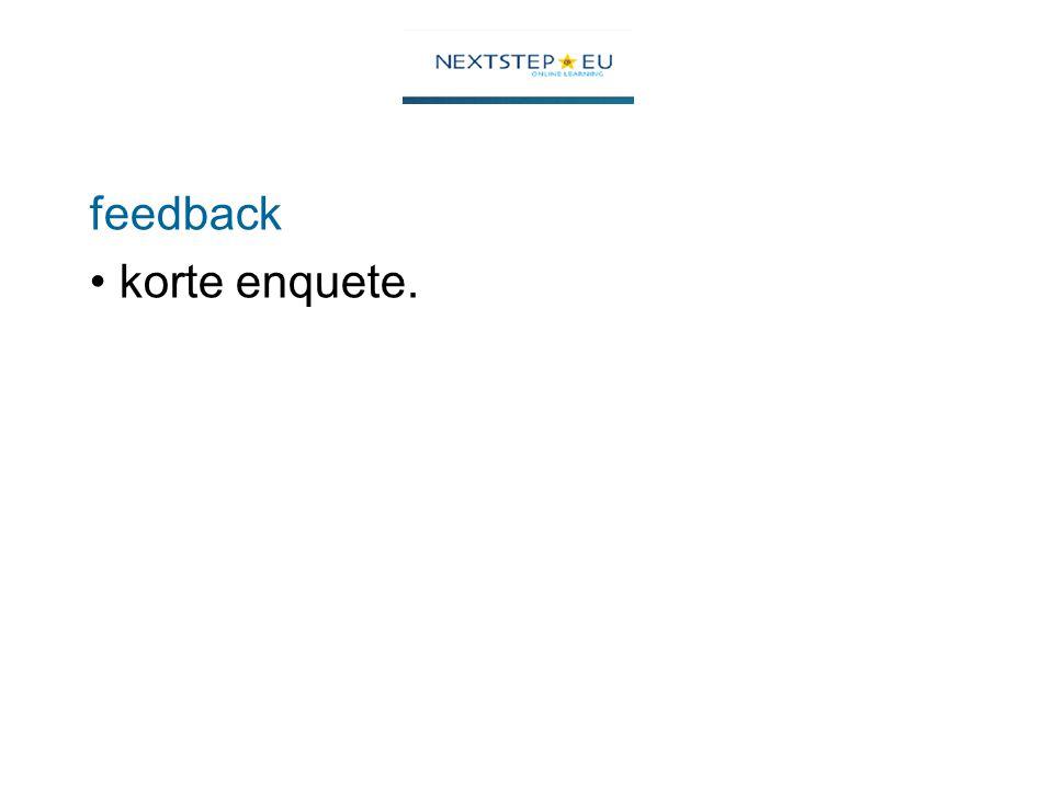 feedback korte enquete.